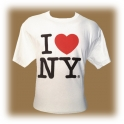 "T-Shirt ""I Love New York"" blanc"