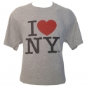 "T-Shirt ""I Love New York"" gris"