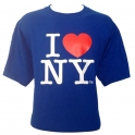 "T-Shirt ""I Love New York"" bleu"