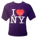 "T-Shirt ""I Love New York"" violet"