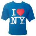 "T-Shirt ""I Love New York"" turquoise"