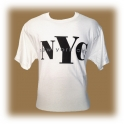 "T-Shirt New York City ""NYC"" blanc"
