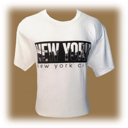"T-Shirt New York City ""Skyline"" blanc"