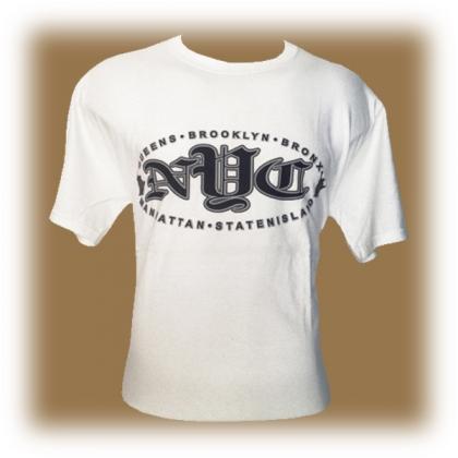 "T-Shirt New York City ""NYC"" blanc"