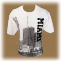 T-Shirt Miami blanc brodé