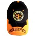 Casquette San Francisco noire et orange