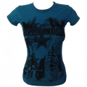 T-Shirt femme Hollywood bleu