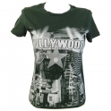 T-Shirt femme Hollywood vert