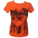 T-Shirt femme Hollywood orange