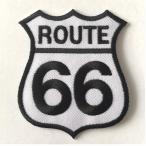 Patch Route 66 blanc/noir