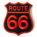Patch Route 66 noir/rouge