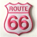 Patch Route 66 blanc/rose