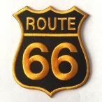 Patch Route 66 noir/orange