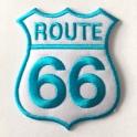 Patch Route 66 noir/vert