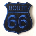 Patch Route 66 blanc/turquoise