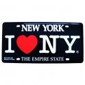 """Plaque Métallique """"I Love New York"""" noire"""