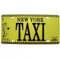 "Plaque Métallique New York ""Taxi"" jaune"