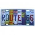 "Plaque Métallique Route 66 ""States"""