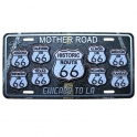 """Plaque Métallique Route 66 """"Mother Road"""""""