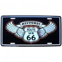 """Plaque Métallique Route 66 """"Historic"""""""