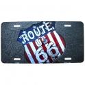 """Plaque Métallique Route 66 """"Bitume"""""""