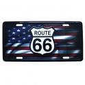 "Plaque Métallique Route 66 ""USA Flag"""