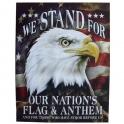 """Grande Plaque Métallique """"USA Eagle"""" Stand"""