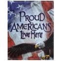 "Grande Plaque Métallique ""USA Eagle"" Proud"