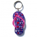 "Porte Clé New York Tong ""I Love NY"" plastique violet"
