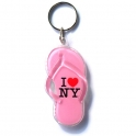 "Porte Clé New York Tong ""I Love NY"" plastique mauve"