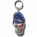 "Porte Clé New York Tong ""USA Flag"" plastique"