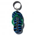 Porte Clé New York Tong rayé bleu noir et vert