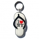 "Porte Clé New York Tong ""I Love NY"" plastique blanc"