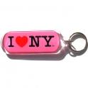 "Porte Clé New York Horizontal ""I Love NY"" plastique"