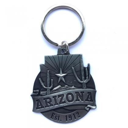 """Porte Clé """"Arizona"""" argent"""