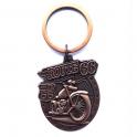 """Porte Clé Route 66 """"Harley Davidson"""" métal bronze"""