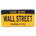 "Magnet New York ""Plaque Immatriculation"" Wall Street jaune"