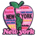 "Magnet New York ""Big Apple"" caoutchouc rose"
