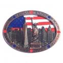 """Magnet New York """"Monuments"""" métal cuivre"""