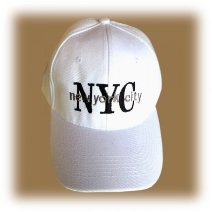 "Casquette New York City ""NYC"" blanche"