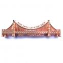 """Magnet San Francisco """"Golden Gate Bridge"""" métal cuivre brilliant"""