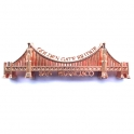 "Magnet San Francisco ""Golden Gate Bridge"" métal cuivre brilliant"