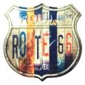 """Magnet Route 66 """"Plaque d'immatriculation"""" métal"""