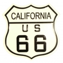 """Magnet Route 66 """"Logo"""" métal blanc"""