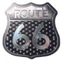 """Magnet Route 66 """"Logo"""" noir métallisé"""