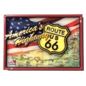 "Magnet Route 66 ""America's Highway"" en relief"