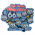 "Magnet Route 66 ""Get Your Kicks"" bleu"