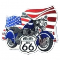 "Magnet Route 66 ""Harley Davidson"""