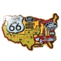 "Magnet Route 66 ""USA Map"" jaune"