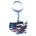 """Porte Clé """"USA"""" American Pride chromé"""